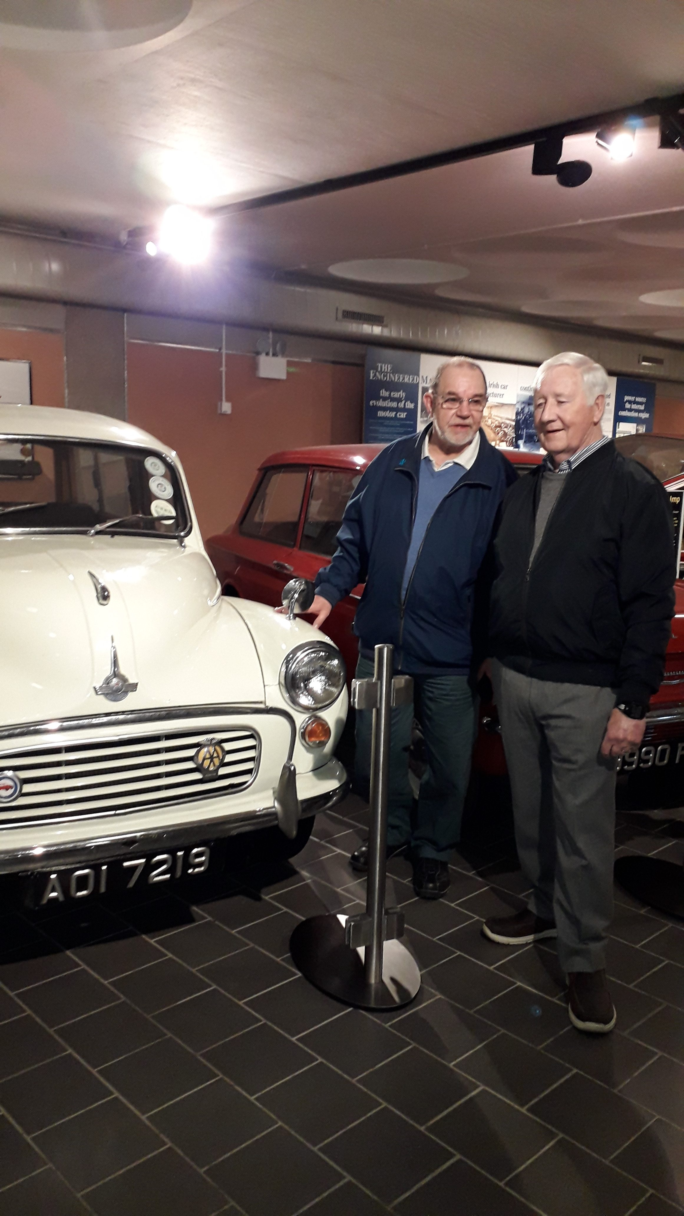 Touch Team at Transport Museum John McAllister & Robert Thompson Apr 2019