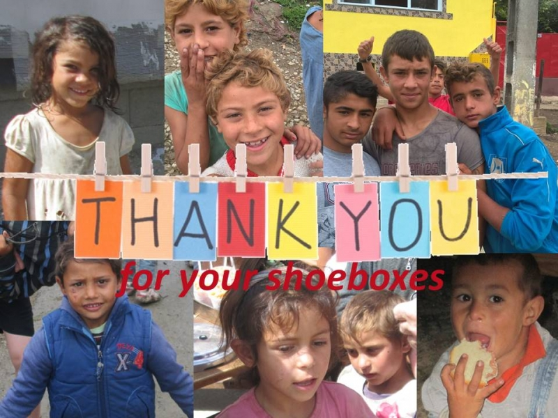 Shoe Boxes for Romania – Thank you !